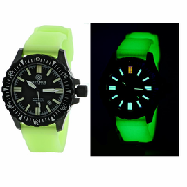 DAYNIGHT T100 OPS TRITIUM FLAT TUBES PVD CASE Green Luminous Strap