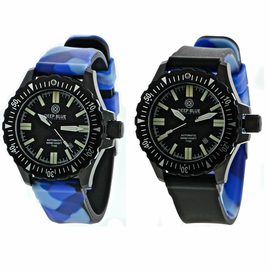 DAYNIGHT T100 OPS TRITIUM FLAT TUBES PVD CASE Reversible Blue Camo Strap