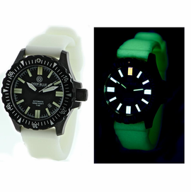 DAYNIGHT T100 OPS TRITIUM FLAT TUBES PVD CASE White Luminous Strap