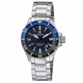 DAYNIGHT TRITDIVER T-100 AUTOMATIC BLACK/BLUE BEZEL- BLACK DIAL
