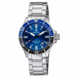DAYNIGHT TRITDIVER T-100 AUTOMATIC BLACK/BLUE BEZEL- DARK BLUE DIAL