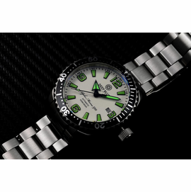 DEEP BLUE 42MM ALPHA MARINE 500 DIVER WHITE/GREEN