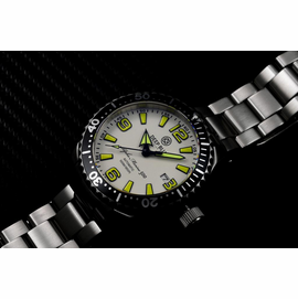 DEEP BLUE 42MM ALPHA MARINE 500 DIVER WHITE/YELLOW