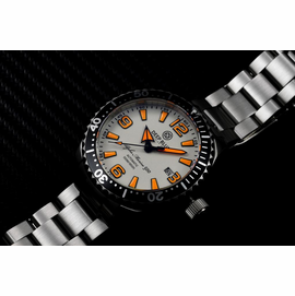 DEEP BLUE 45MM ALPHA MARINE 500 DIVER WHITE/ORANGE