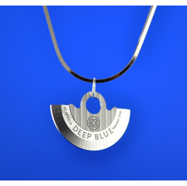Deep Blue Rotor Necklace