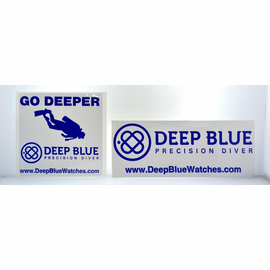 Deep Blue Stickers