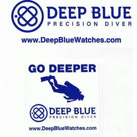 Deep Blue Stickers Waterproof