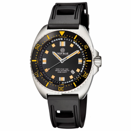 DEEP STAR 1000  SWISS AUTOMATIC STRAP– DIVER BLACK/ORANGE