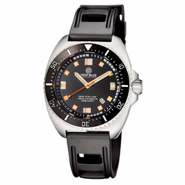 DEEP STAR 1000  SWISS AUTOMATIC STRAP– DIVER BLACK/WHITE