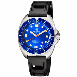 DEEP STAR 1000  SWISS AUTOMATIC STRAP– DIVER BLUE/BLACK