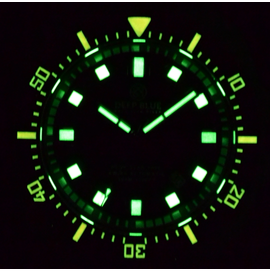 DEEP STAR LUME BLACK/ORANGE BEZEL BLACK DIAL