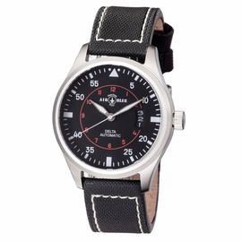 DELTA AUTOMATIC  STAINLESS CASE BLACK WHITE  DIAL