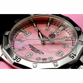 Lady Blue T100 - Pink  MOP - Silicon Band