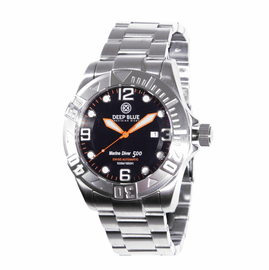 Marine Diver 500 Black Orange Wave dial