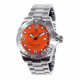 Marine Diver 500 Orange Wave Dial