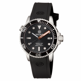 MASTER 1000 AUTOMATIC DIVER BLACK BEZEL -BLACK DIAL-ORANGE MINUTE HAND