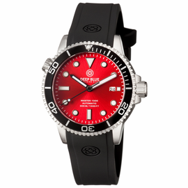 MASTER 1000 AUTOMATIC DIVER BLACK BEZEL -RED SUNRAY  DIAL
