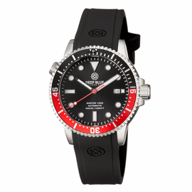 MASTER 1000 AUTOMATIC  DIVER BLACK/RED BEZEL -BLACK DIAL