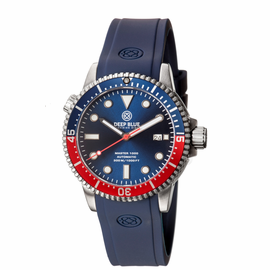 MASTER 1000 AUTOMATIC  DIVER BLUE/RED BEZEL -BLUE DIAL 15/30/45 BEZEL