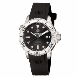 MASTER 1000 AUTOMATIC DIVER SILVER BEZEL -BLACK DIAL