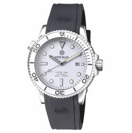 MASTER 1000 AUTOMATIC DIVER SILVER BEZEL -WHITE GLOSSY DIAL