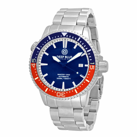 MASTER 1000M AUTOMATIC –CERAMIC 1/2 BLUE 1/2 RED BEZEL DIVER BLUE DIAL BLUE HANDS