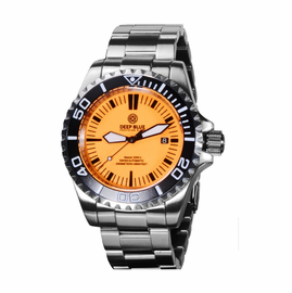 Master 2000 Diver II Bracelet Black /Orange/Black- LUME DIAL Orange