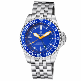 MASTER 2000 GMT  AUTOMATIC DIVER-  ETA 2836-2 SWISS MADE MOVEMENT BLUE
