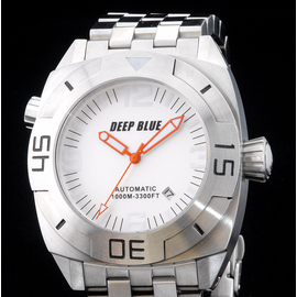 MASTER DIVER 1000m STEEL BRACELET WHITE ORANGE  HANDS