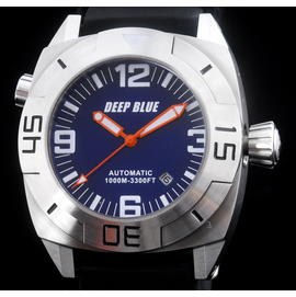MASTER DIVER 1000m STRAP  BLUE ORANGE HANDS