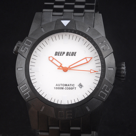 MASTER EXPLORER PVD 1000m White Orange Hands