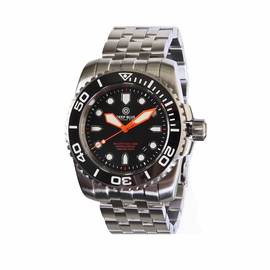 Master MAG 1000  Ceramic Bezel  - Black Bezel Black Dial Orange Hands