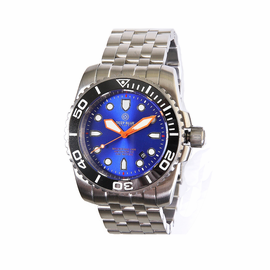 Master MAG 1000  Ceramic Bezel  -Black Bezel Blue Dial Orange Hands