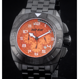 MASTER TIMER PVD BRACELET ORANGE BLACK HANDS