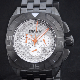 MASTER TIMER PVD BRACELET WHITE ORANGE  HANDS