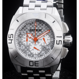 MASTER TIMER STEEL BRACELET WHITE ORANGE  HANDS