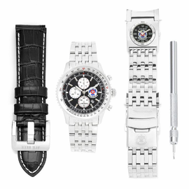 "<font color=""blue""> Mens USAF Thunderbirds Watch Chronograph with GMT bracelet and Extra Strap </font>"