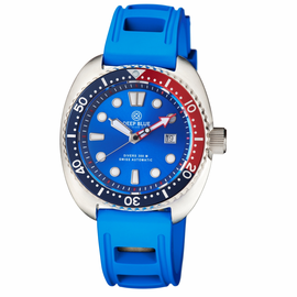 MILIARY DIVER 300 SWISS AUTOMATIC – DIVER BLUE/RED-Blue Hydro 55  Strap