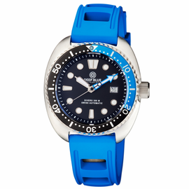 MILITARY DIVER 300 SWISS AUTOMATIC – DIVER BLACK/BLUE- Blue Hydro 55 Strap