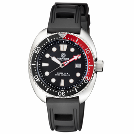 MILITARY DIVER 300 SWISS AUTOMATIC � DIVER BLACK/RED