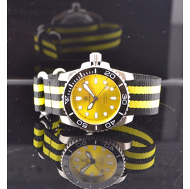 Nato Ballistic Nylon Strap with a double yellow stripe