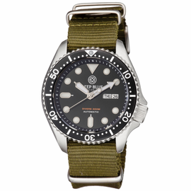 NATO DIVER COLLECTION- BLACK DIAL OLIVE DRAB STRAP