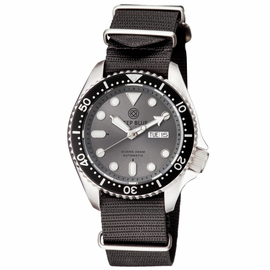 NATO DIVER COLLECTION GREY DIAL - BLACK STRAP