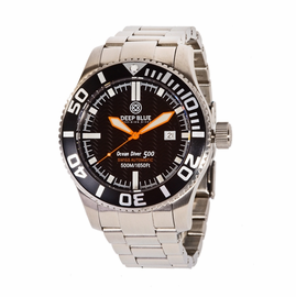 OCEAN DIVER 500- Black Dial/ Orange Hands