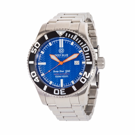 OCEAN DIVER 500- Blue Dial/ Orange Hands