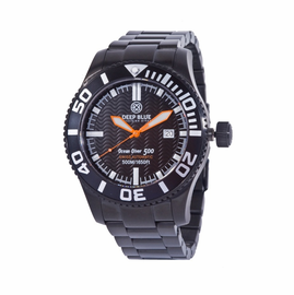 OCEAN DIVER 500 PVD - Black Dial/ Orange  Hands