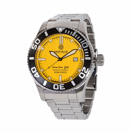 OCEAN DIVER 500- Yellow Dial/ Black  Hands