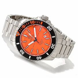 Orange T100 Diver 46mm Orange and Blue tritium tubes