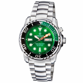 PRO SEA DIVER 1000M  BRACELET ¼ GREEN/ BLACK BEZEL –GREEN  DIAL