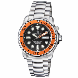 PRO SEA DIVER 1000M BRACELET ORANGE BEZEL BLACK DIAL